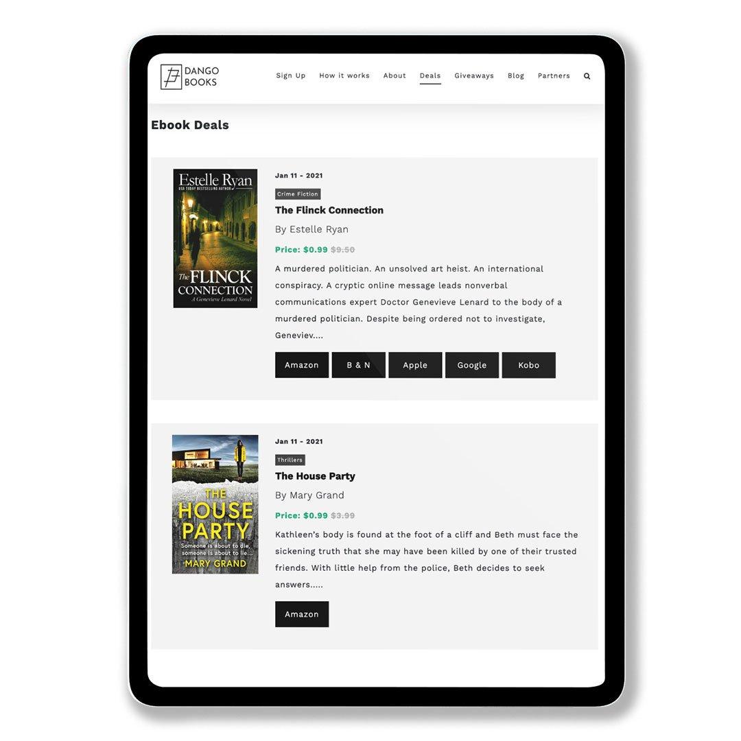 Dango Books Deal Page iPad