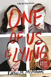 suspense and thrillers One Of Us Is Lying book cover